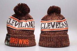 Hochwertige Herren Browns Cuffed Pom Beanie Hüte gestrickt SF Beanie Wolle warme Baseballmütze Frauen Bonnet Beanies Strickmütze