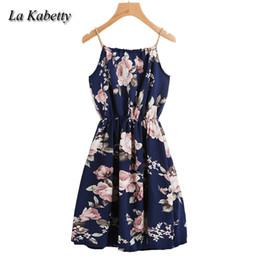 $enCountryForm.capitalKeyWord Australia - 2018 Women Spaghetti Strap Beach Summer Dress Floral Print Sleeveless Ruffle Sexy Casual Boho Evening Party Dress Plus Size 5XL