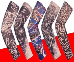 Wholesale 125 style Temporary Tattoo Arm Sleeves Arts Fake Slip on Arm Printed Sunscreen Sleeves Body Art Stockings Protector