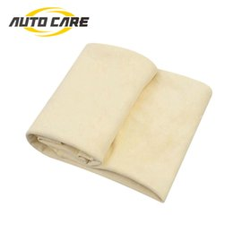 chamois leather car clean 2019 - Auto Care Natural Chamois Leather Car Cleaning Cloth Genuine Leather Wash Suede Absorbent Quick Dry Towel Streak Free Li