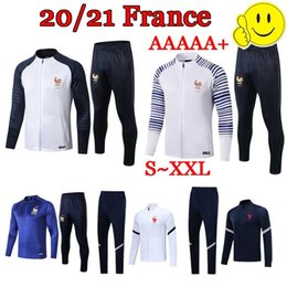 Wholesale 2020 French 2 STAR Maillot de Foot survetement maillot jacket tracksuit 2019 20 jerseys football jogging Equipe de france new long sleeve