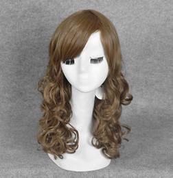 Sexy Toys Cosplay Australia - WIG free shipping Otaku toy anime sexy girl cosplay long brown curly hair handmade wigs