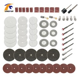 dremel tool grinder Australia - 61pc Dremel Rotary Tool Accessory Set Kits Cutting discs Grinding Sanding Polishing Abrasive fit for Wooden Dremel 3000 Grinder