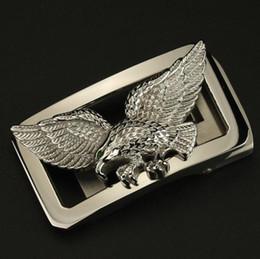 Vente en gros Boucle automatique pour hommes en acier inoxydable Flying Eagle pour 3.3-3.5cm taille ceinture en cuir ceinture boucle ceinture boucle de ceinture