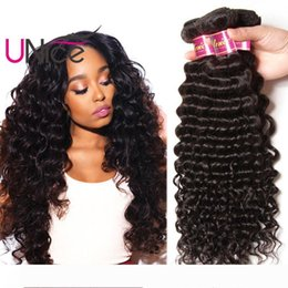 hair indian human 12 inches NZ - UNice Hair 8A Virgin Indian Deep Wave 5 Bundles Unprocessed Remy 100% Human Hair Extensions 12-26 inch Wholesale Nice Curl Hair Weave Bundle