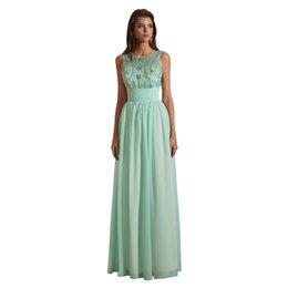 $enCountryForm.capitalKeyWord UK - Gorgeous Bling Bling Jewel A Line Chiffon Beaded Pearls Evening Dresses Pageant Celebrity Gowns Custom Made Evening Gowns