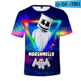 ebbcabff5 3-20Y 2019 New Mashmello T Shirts for Kids Smile Face 3D Print Cool Funny  T-Shirt Boys Short Sleeve Summer Fashion Tops