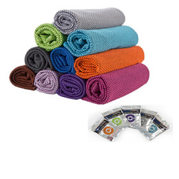 80*30cm Ice Cold Towel Double layers Instant Magic Cooling Towels Summer Sunstroke Sports Fitness GYM Excersice Quicky Dry Towels A61802 on Sale