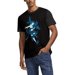 Custom Print T Shirt Cheap UK - League of Legends blue Summer Men T Shirt white Shirts Custom T Shirts Funny Tee Shirts Superhero Cheap Shirt Black