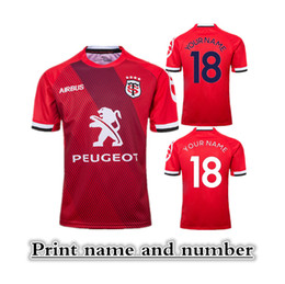 Wholesale 2018 MAILLOT REPLICA STADE TOULOUSAIN THIRD RUGBY LEAGUE HOME JERSEY size S XL Print name and number Top quality