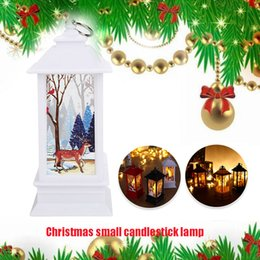 christmas gift candles Australia - Wooden Christmas Gift Hanging Street Lamp Flame Light Home Decoration Xmas Creative Candlestick Santa Claus Party Candle