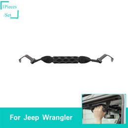 Top ouTleTs facTory online shopping - Front And Rear Top Handle With Hole Black For Jeep Wrangler JL Factory Outlet High Quatlity Auto Internal Accessorie