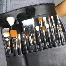 Professional Makeup Artist Cosmetic Bag Australia - Makeup Brush Apron with Artist Belt Strap PVC Make Up Brush Bag Holder Professional Cosmetic Bags & Cases