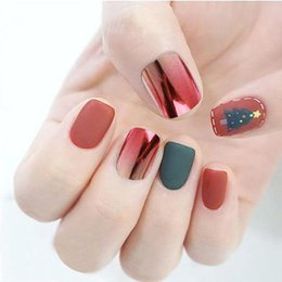 $enCountryForm.capitalKeyWord Australia - Mixed 6 Colors Fake Nails Make Up Excellent ABS Artificial Full Short Round Flat Head Tips Multiple Colors Suit One's Demand