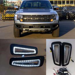 $enCountryForm.capitalKeyWord NZ - Car Styling For Ford Raptor F150 2010 2011 2012 2013 2014 2015 LED DRL Daytime Running Lights Daylight car lights fog lights