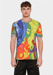 Modal t shirts Men online shopping - Premium brand men s T shirt apparel European and American style high quality printing short sleeves is the top fashion Medusa label