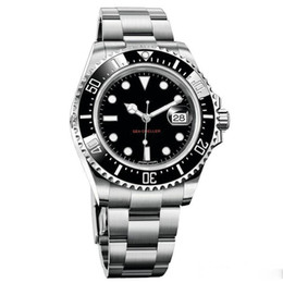 China luxury watches RED SEA-DWELLER 43mm Mens Watch 2813 Automatic Movement Sweep Mechanical Ceramic Bezel Clasp Sapphire mirror men watches cheap mirror ceramics suppliers