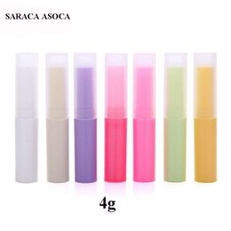 $enCountryForm.capitalKeyWord Australia - Wholesale 100pcs lot 4g Plastic Korean Lipstick Tube Refillable Bottles 4ml Empty Lip Tube For Cosmetic Packing