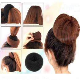 Bun shaper online shopping - 1 pc Fashion Women Lady Magic Shaper Donut Hair Ring Bun braiders Accessories Styling Tool Professional woman hair tool S M L