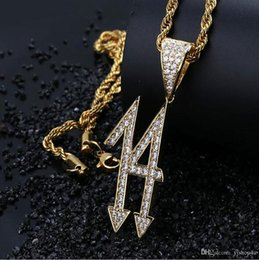 Lucky Gold Pendant Men Australia - LUCKY NUMBER 14 GOLD SILVER ICED OUT DIGITAL PENDANT Micro Pave Cubic Zircon Hip Hop Pendant Necklace For Men Women Gifts