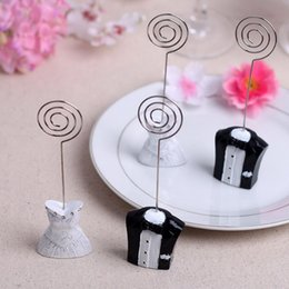 $enCountryForm.capitalKeyWord Australia - Bride and Groom Place Card Holder Table Number Seat Clip For Wedding Favors and Gifts DHL Free Shipping