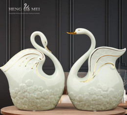 simple bedroom decorations Australia - Creative ceramics home fat goose room home wine cabinet decorations ornaments simple living room bedroom TV cabinet furnishings