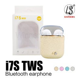 Crystal Box For Case Australia - I7S tws Colorful Crystal Lid Twins Mini Bluetooth Earphone Pair Set With Charger Box Case Headset In ear Music Earbuds For ios Android i7 i8