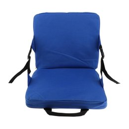 inflatable air seat cushion Canada - TOP!-Rocking Chair Cushions Outdoor Folding Fishing Chair Seat And Back Pad For Car Seat Stadium Seat Padding Outdoor Pads
