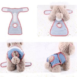 female dog puppy diaper Australia - 1pc Pet Diaper Denim Cloth Dog Panty Sanitary Pants Dog Menstrual Pants For Girl Female Puppy Doggy Short Menstruation Period