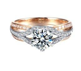 Индивидуальные роскошные CXS Мозамбика дрель 1 карат 18K Золотое кольцо сертификат оценки, гламур леди пользовательские платины инкрустированные бриллиантовые кольца jewe