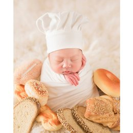 little beanie Australia - Baby Photography Props Little Chef Hat White Stretch Wrap Little Cook Creative Props Newborn Photography Accessories
