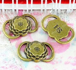 Tibetan Connector Pendants Australia - 60pcs 22*14MM Antique bronze tibetan alloy flower connector charms for bracelet vintage metal pendant earring handmade DIY jewelry making5