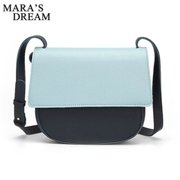 Color Leather Bags Australia - Mara's Dream PU Leather Women Handbag Patchwork Color Messenger Bag Soft Fashion Ladies Crossbody Bags Female Bolsas Handbags