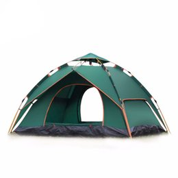 field tents NZ - Outdoor double camping full automatic double spring 3-4 person beach camping tent Essential tents for hiking, climbing and out