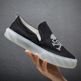$enCountryForm.capitalKeyWord Australia - Spring 2019 New Reflective Graffiti Skull Canvas Shoes Youth Trend Breathable Thick Bottom Casual Men's Shoes