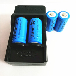 High quality 4 pcs 16340 2600mAH 3.7V lithium battery + 1pcs US EU 16340 lithium battery charger, manufacturers direct sales on Sale
