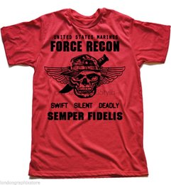 Marine yellow online shopping - USMC T shirt US Marines Semper Fidelis Devil Dog Semper Fi Force Recon