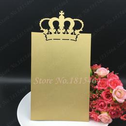 $enCountryForm.capitalKeyWord NZ - 30pcs Hot Sale Crown Menu Cards,laser Cut Custom Made Design Wedding Handmade Menu Card Invitation Card Party Table Decoration Y19061704