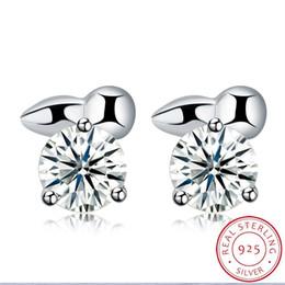 women masonic ring 2019 - 0.6x0.6cm s925 Silver ear rings Women designer Fashion masonic Genuine men lady Earring Party de plata de ley 925 Imitat