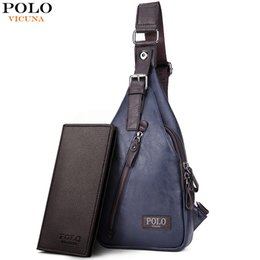 polo bags NZ - VICUNA POLO Famous Brand Theftproof Magnetic Button Open Leather Mens Chest Bags Fashion Travel Crossbody Bag Man Messenger Bag