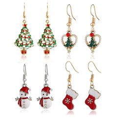 $enCountryForm.capitalKeyWord Australia - 1Pair Christmas Earring Pendant for Home Happy New Year Xmas Christmas Gift Ornaments Drop Ornaments Decoration