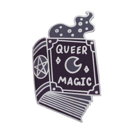 Book shadows online shopping - Queer magic lapel pin witch pride brooch book of shadows black wicca badge LGBT Gothic accessories