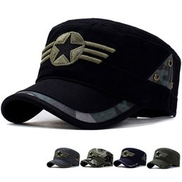 soldier hats 2019 - Tactical Camouflage Cap Men Casual Militar Army Soldier Camo Snapback Hat Outdoor Combat Camping Embroidery Baseball Sun