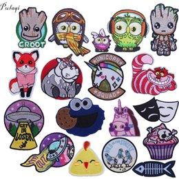 $enCountryForm.capitalKeyWord Australia - Pulaqi Cute Cartoon Unicorn Guardians The Galaxy Patches For Backpack Iron On Patch DIY For Kids Clothing Tree Man Decoration F