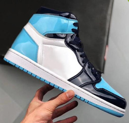 Discount boxing games - 2019 New 1 High OG UNC Patent WMNS ASG Obsidian Blue Chill White Men Women Basketball Shoes 1s All-Star Game Sneakers Wi