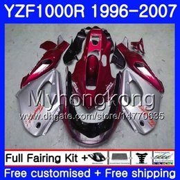 $enCountryForm.capitalKeyWord Australia - Body red silver hot For YAMAHA YZF1000R Thunderace 02 03 04 05 06 07 238HM.42 YZF 1000R YZF-1000R 2002 2003 2004 2005 2006 2007 Fairing kit