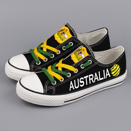 b2c74ee67d Free Design Australia National Flag Printed Low Top Canvas Shoes Custom  Australians Leisure Walk Shoes Men Tenis Espadrilles