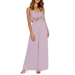 5eacd848c36 Backless Jumpsuits UK - feitong Women Sexy Sleeveless Backless Playsuit  Suit Sexy Matching Sets Clubwear Straight