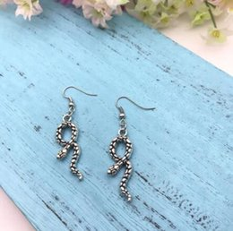 Discount exotic earrings - Antique Silver Earrings Snake Earrings Reptile Exotic Eardrop Women Charm Dangle Herpetologist Eardrop Ear Accessories F