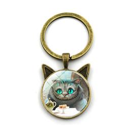 $enCountryForm.capitalKeyWord NZ - Cat Face Eyes Keychain Charm Key Chain Bag Handbag Purse Pendant Car Key Ring